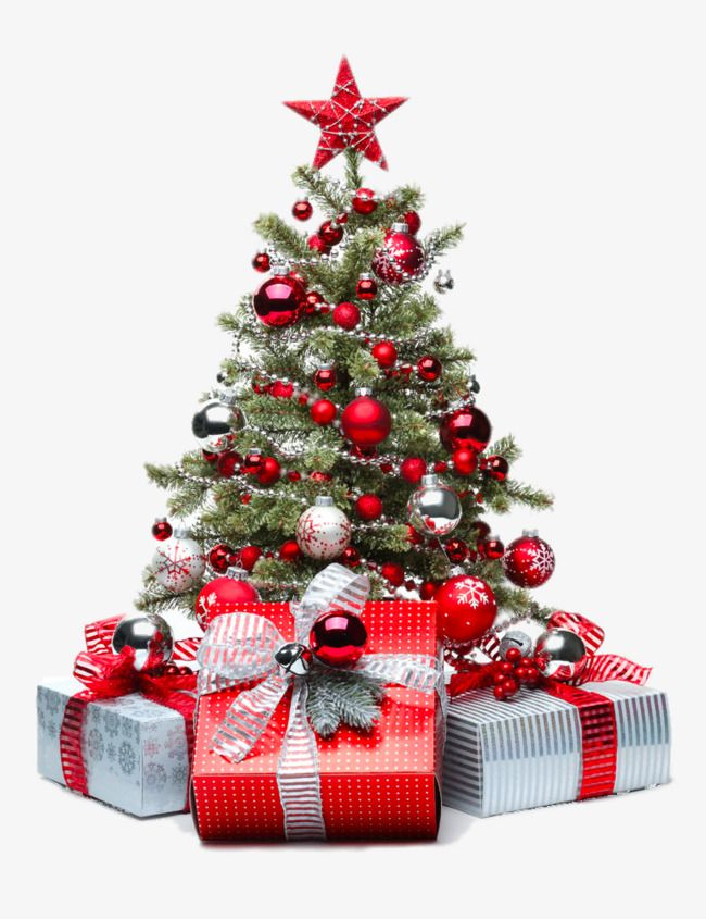 Red Christmas Tree Png And Clipart Christmas Tree With Gifts Christmas Tree Christmas Tree Decorations