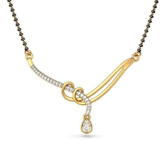 The Araina Tanmaniya | Diamond Tanmaniy In 18Kt Yellow Gold