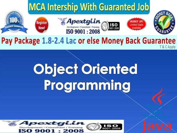 What is Java Object Oriented Programming	http://www.slideshare.net/apextgi/what-is-java-object-oriented-programming
