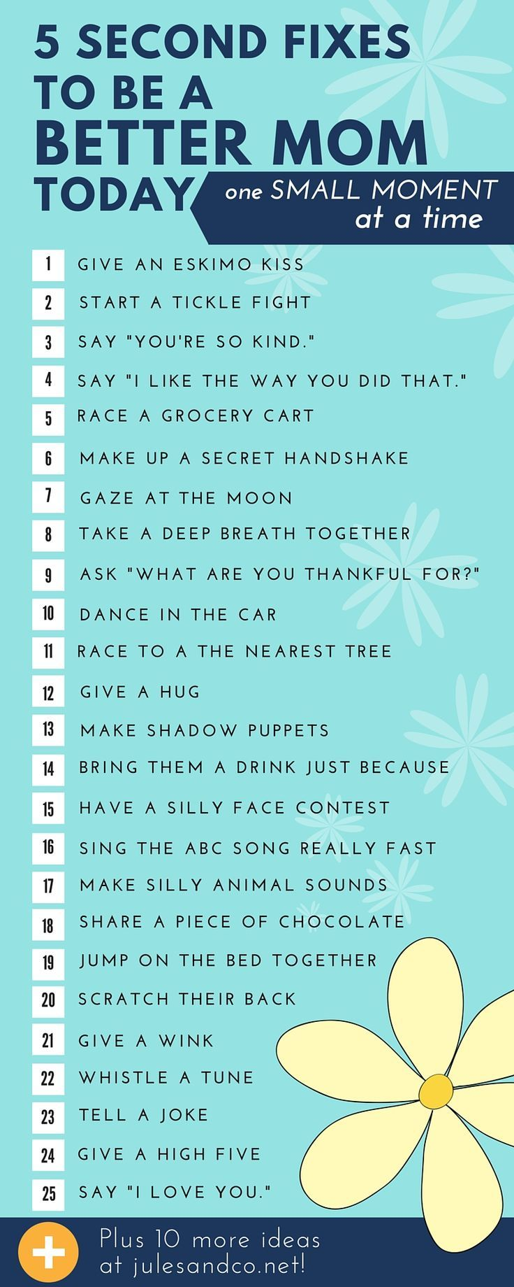 Sweet ideas for making just one small moment in time memorable with your children.