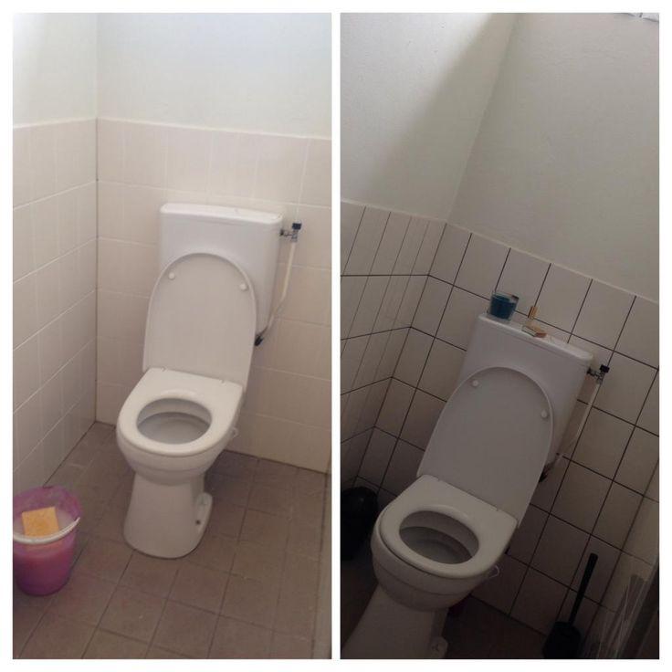 25 beste idee n over tegels schilderen op pinterest verf tegels tegels in badkamers - Wc muur tegel ...