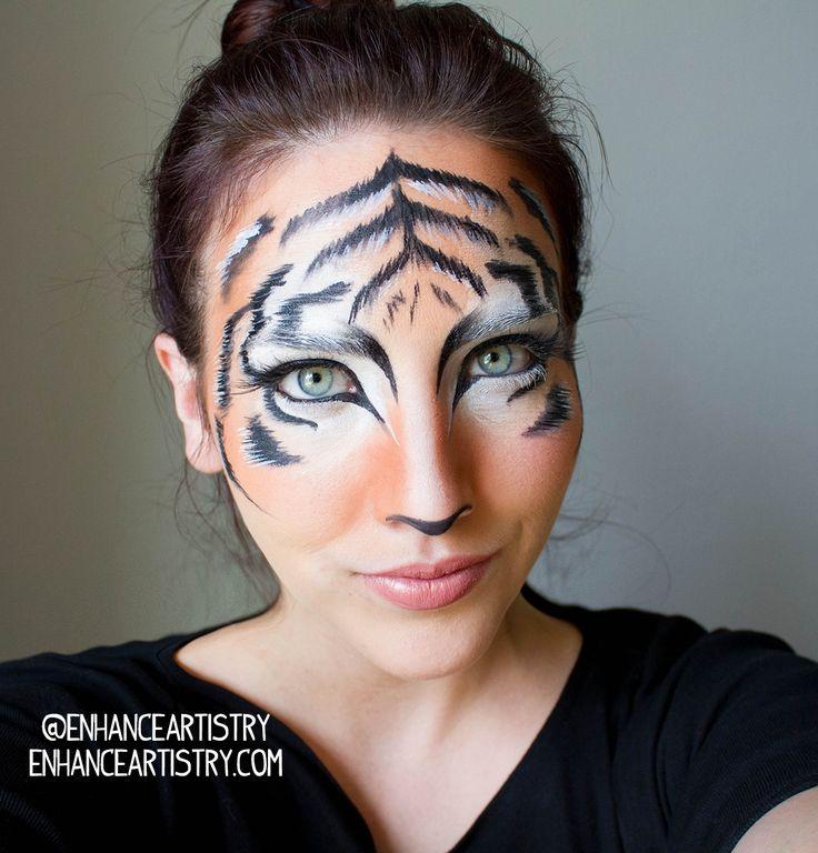 Best 25+ Tiger Makeup Ideas On Pinterest | Karneval Schminken Tiger Fasching Schminken Tiger ...