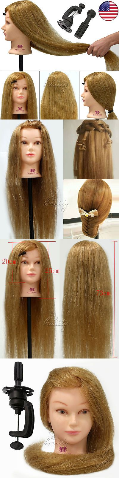 Other Salon and Spa Equipment: Cosmetology Training Head,100% Real Human Hair, 26 Long Hairdressing Mannequin -> BUY IT NOW ONLY: $38.99 on eBay!
