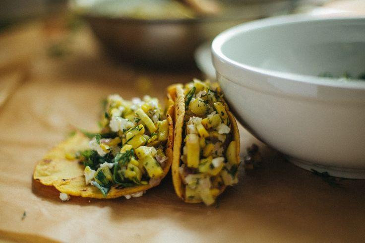Soft Shell Squash Tacos  happyolks.com