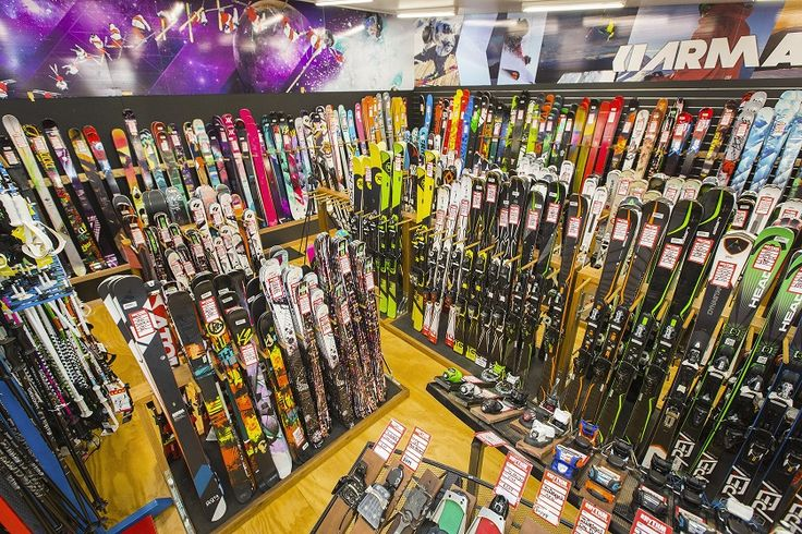 Extensive range of downhill, freestyle and carving skis available at Rhythm