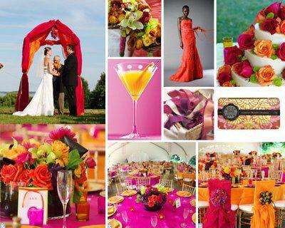 Bright and colourful - orange and Fuschia colour palette...