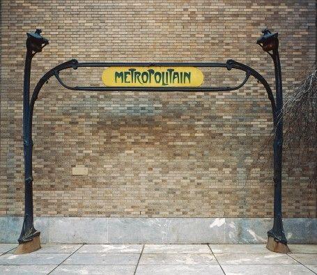 MoMA | Hector Guimard. Entrance Gate to Paris Subway (Métropolitain) Station. Paris, France. c. 1900