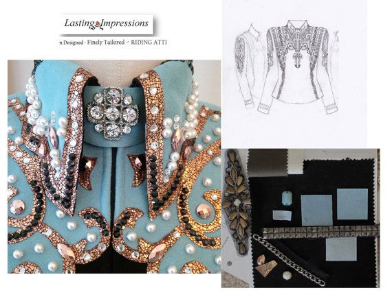 Western Show Jackets and Vests   Lasting by LastgImpressions, $150.00 for custom fit pattern and finalized custom sketch. Client can then proceed to make it themselves or contract Lasting Impressions at a negotiated price.