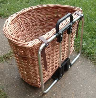 David Hembrow, basketmaker - Basket for Brompton bicycle - €81 from Holland, will make smaller ones to fit S-type to order