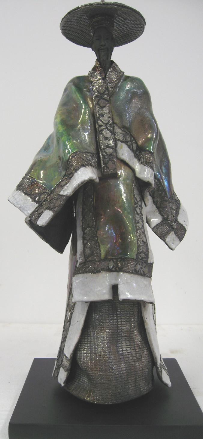Paul BECKRICH, Le chinois, 60 x 28 x 26 cm, raku