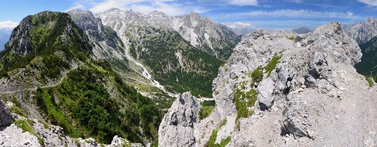 Albánie 2016 - Výšlap do sedla nad Valbonou s pohledem na Thethi