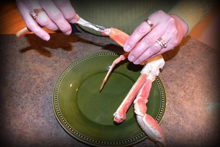 Coborn's Blog: How to remove membrane from crab legs so you can pull out full piece of crab meat.