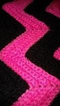 Crochet Blanket pink/black