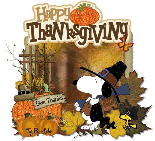 Happy Thanksgiving - Snoopy
