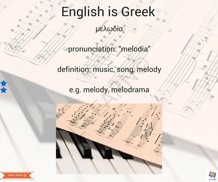 Μελωδία.  #English #Greek #language #Αγγλικά #Ελληνικά #γλώσσα #LLEARN