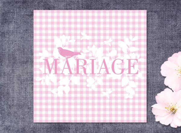 Faire-part Mariage : VICHY invitation-originale.com