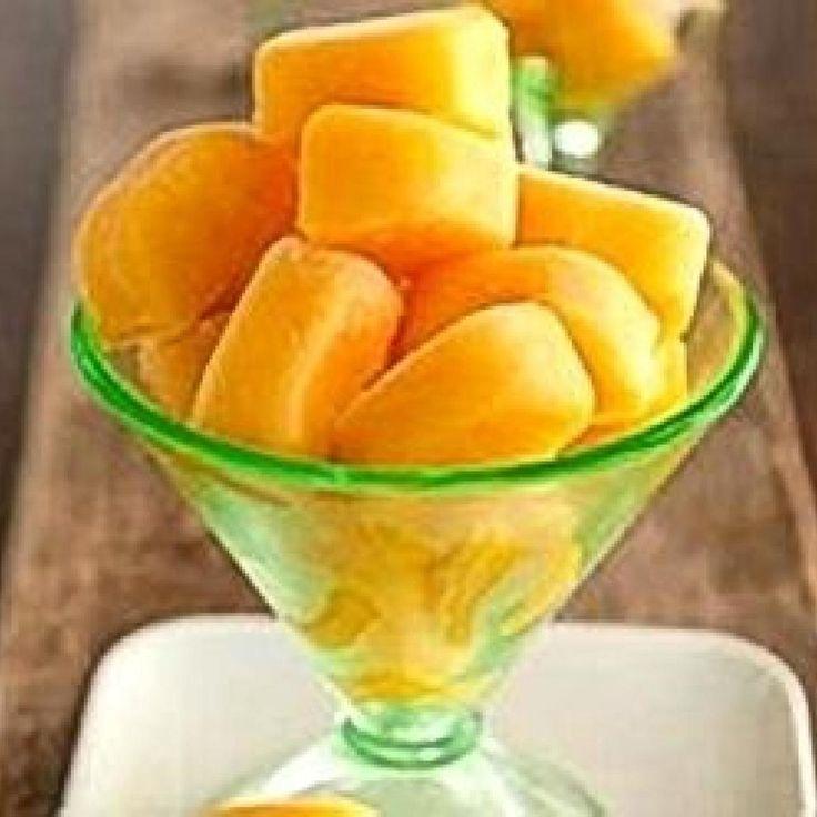 Peach Ice Cubes