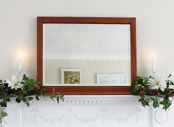 ☼❃ Over #Mantle Mirror Vintage Mirror #French mirror Satin wood mirror Fram... Check It http://etsy.me/2hslmbI