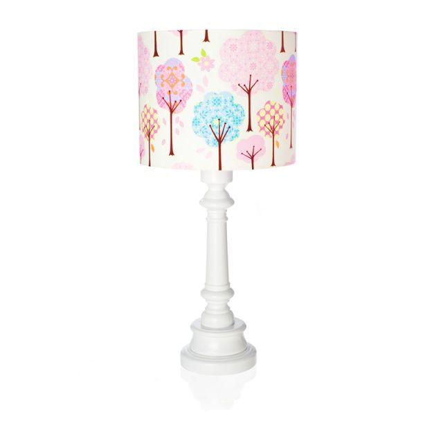 """Lampa """"Bajkowy las - białe tło""""  Zobacz inne produkty: http://bit.ly/1mHiui1  #lamps #forkids #design #dizajn #forest"""