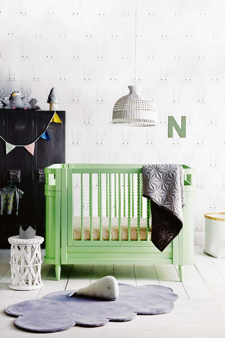 A chic nursery in unisex shades. From the February 2016 issue of Inside Out magazine. Styling by Vanessa Colyer Tay. Photography by Sam McAdam-Cooper. Available from newsagents, Zinio, http://www.zinio.com, Google Play, https://play.google.com/store/magazines/details/Inside_Out?id=CAowu8qZAQ, Apple's Newsstand, https://itunes.apple.com/au/app/inside-out/id604734331?mt=8ign-mpt=uo%3D4 and Nook.