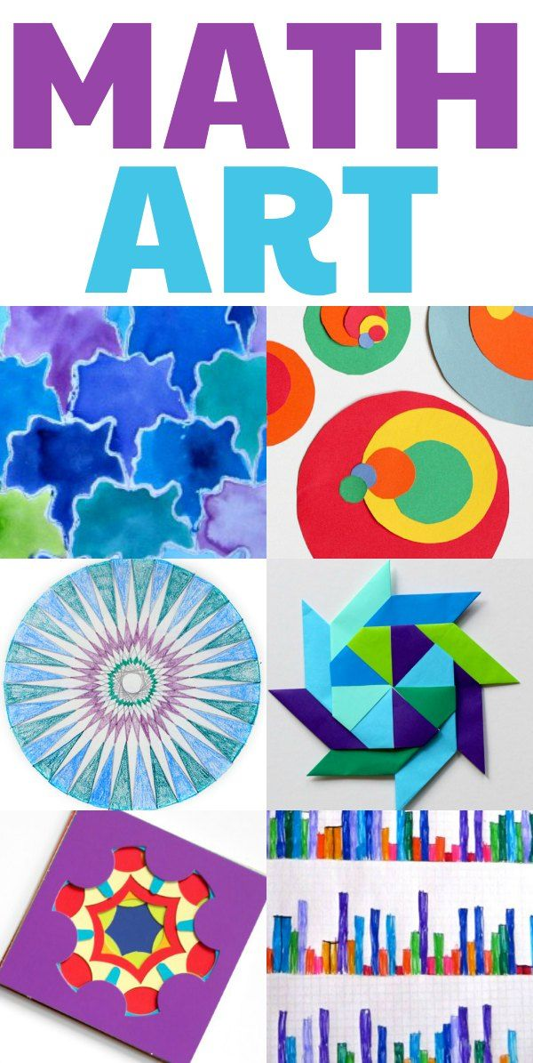 Cool math art projects for kids. Home or classroom. Clever ideas here from @momandkiddo