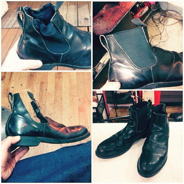 2017/02/15 19:28:30 adtr101 べろべろに伸びたサイドゴアブーツの修理です。全4箇所やりました。トリプルスティッチだったので、縫うのが大変でした...。 #サイドゴアブーツ#サイドゴア#shoes#trickers#トリッカーズ#ALDEN#オールデン#churchs#チャーチ#edwardgreen#エドワードグリーン#johnlobb#ジョンロブ#berluti#ベルルッティ#drmartens#ドクターマーチン#マーチン#boots#ブーツ#vintage#ヴィンテージ#shoeripair#靴修理#repair#恵比寿#六本木#赤坂#足元倶楽部