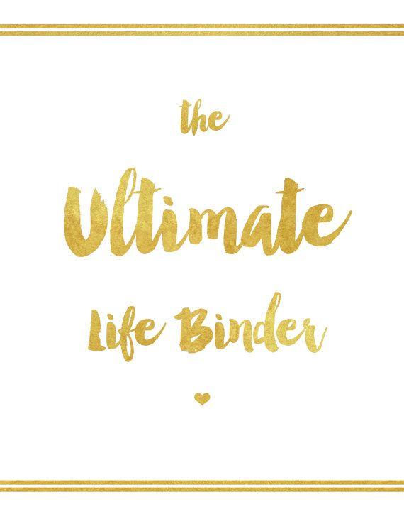 Ultimate Life Binder by SecretOwlSociety on Etsy