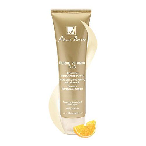 SCRUB VITAMIN C+C. Crema Exfoliante  Exfoliante microgranulado cítrico, que elimina las células muertas, aportándole resplandor y luminosidad a la piel. Su textura fresca y geloide, afina la superficie de la piel y minimiza la apariencia de los poros.