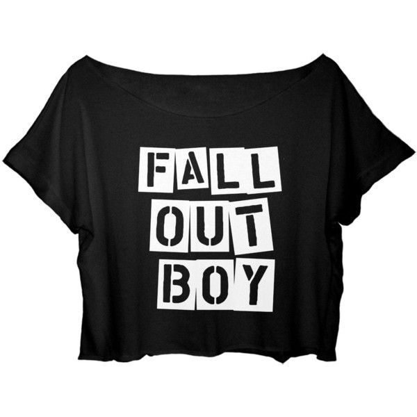 ASA Women's Crop Top Fall Out Boy Shirt Centuries Song Shirt (Black) ($25) ❤ liked on Polyvore featuring tops, shirt top, shirt crop top, crop shirts and crop top