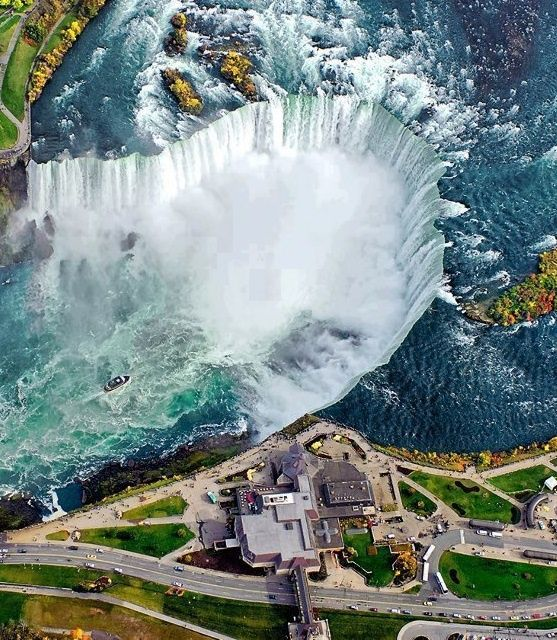 Breathtaking Aerial View of Niagara Falls