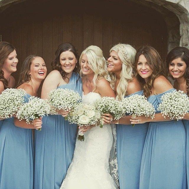 Gorgeous bride and her bridesmaids in Dessy gowns. Photo via @blondebritt. So beautiful emoji #DessyRealWeddings #dessybridesmaids #Miamibride #miamiwedding #bride #bridesmaids #bridesmaidsdresses