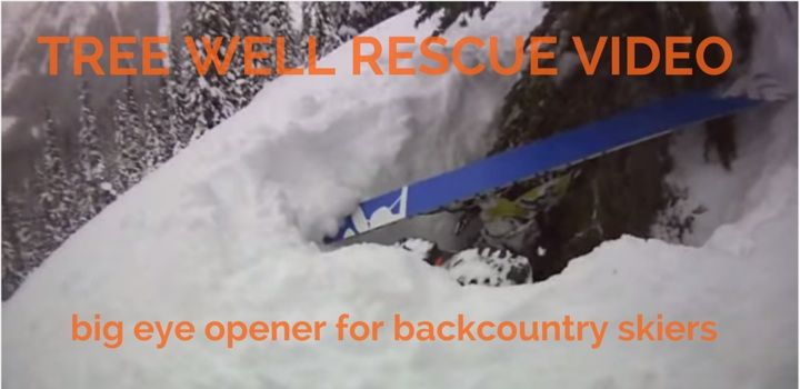 how to rescue skier from tree well video