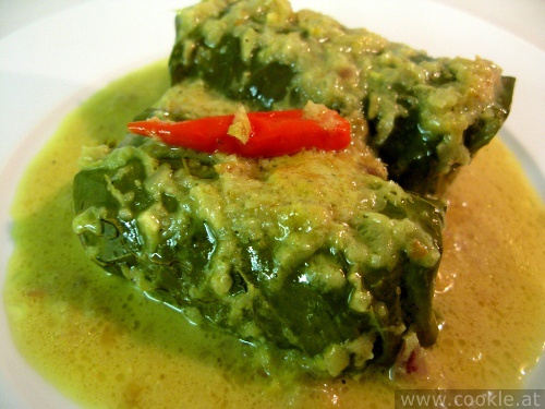 Buntil - Cassava leaf with coconut