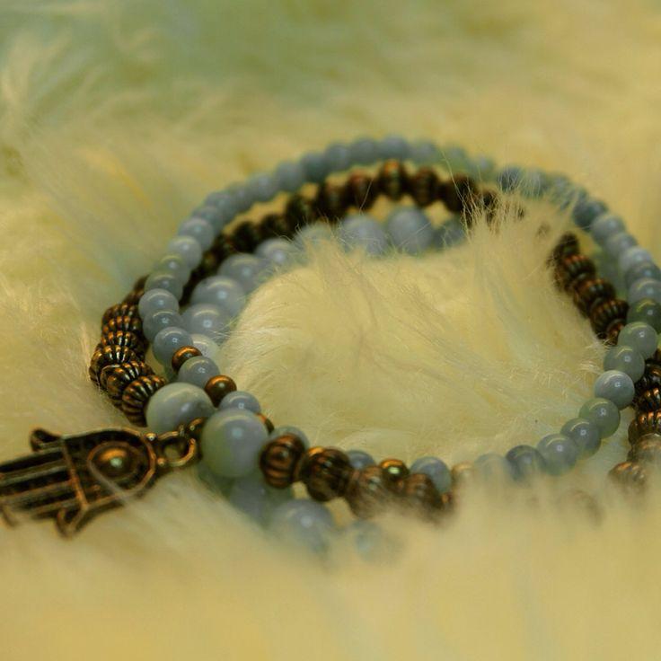 Blue amazonite bracelet