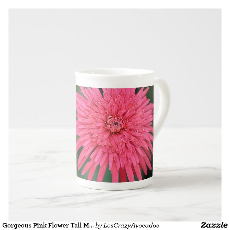 Gorgeous Pink Flower Tall Mug