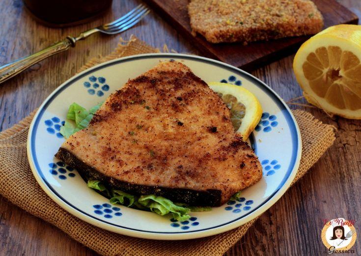 Ricetta con e senza Bimby del Pesce Spada alla Palermitana. Secondo piatto siciliano a base di pesce cotto in padella non fritto, pesce spada panato.