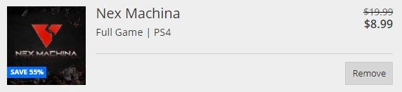 PSA: Nex Machina currently $8.99 in-cart (55% off) on the US PSN Store. Cyber Monday sale incoming?