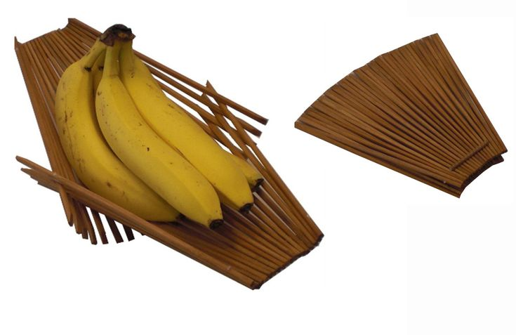 Kwytza Kraft » Chopstick Basket made from discarded bamboo chopsticks, it is strong so you can pile in as much fruit or vegetables as you would like.  Also, because of the good air flow it will keep fruits and vegetables fresh.  It can be washed with soap and water if needed. You will love this basket.  http://eco-handbags.ca/catalog/product_info.php?cPath=279_285&products_id=1687?ref=208