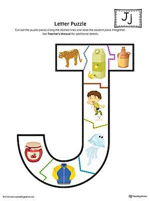 letter j puzzle printable color classroom letter j crafts letter j alphabet activities. Black Bedroom Furniture Sets. Home Design Ideas