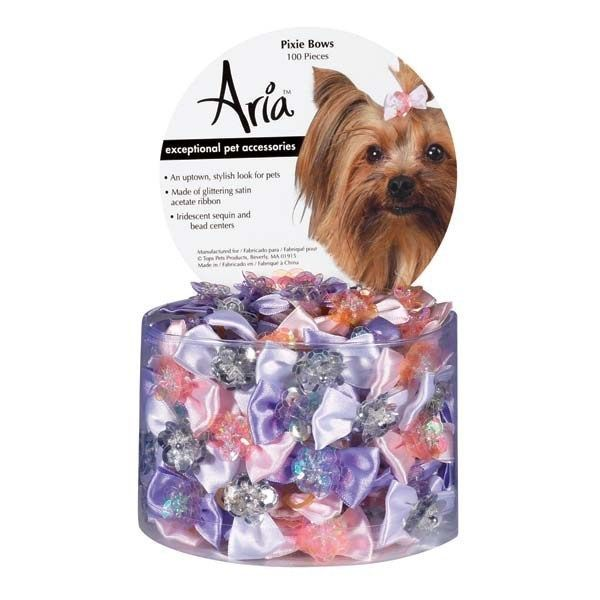TP Aria Pixie Bow Canister 100pc
