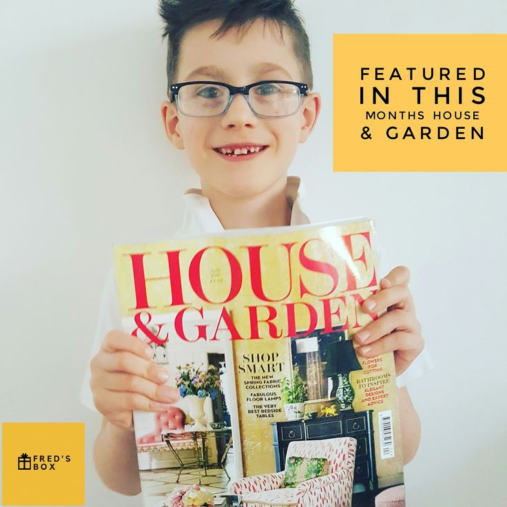 Fred's Box the new kids subscription box as featured in House & Garden magazine.