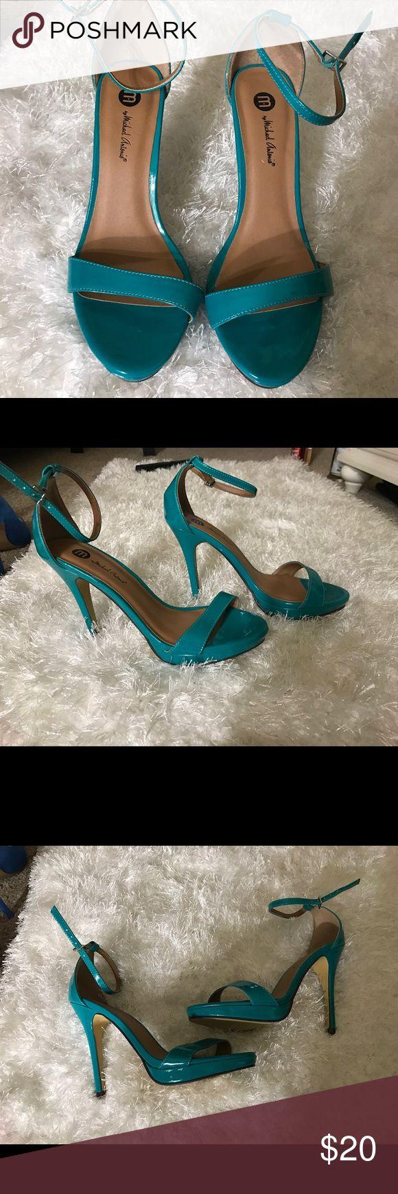 Blue sandal heels Blue strap high heel sandals brand new never worn perfect for summer no box Michael Antonio Shoes Heels