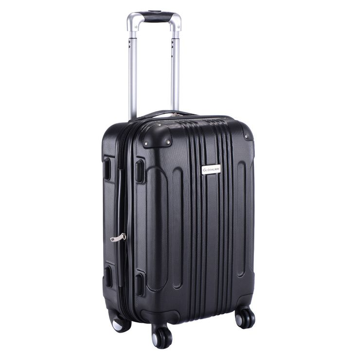 "Product Description This Is Our Brand New And Modern 20"" Expandable Trolley Suitcase, Which Is Constructed From Lightweight ABS Material And Features ... #trolley #suitcase #black #travel #luggage #expandable #carry #globalway"