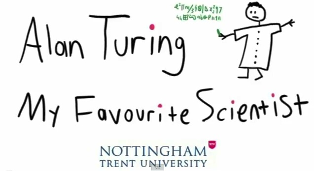 Alan Turing - My Favourite Scientist : Master codebreaker and father of computer science - Alan Turing was a genius touched by tragedy : More favourite scientists at  [http://www.favscientist.com/] / @FavScientist | #AlanTuringYear