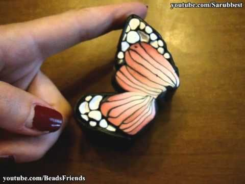 Polymer Clay: How To Make A Butterfly Cane   Butterfly Cabochon with Polymer Clay  http://www.sararmoniasara.com .____. http://www.beadsfriends.com  Facebook ------°°°° http://www.facebook.com/BeadsFriends  To contact me, send an email to sara@beadsfriends.com