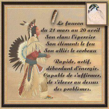 Astrologie Amérindienne : Le FAUCON (du 21 mars au 20 Avril) :