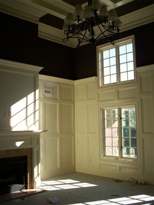 Two Story Paneling And Molding Love Love Love Home