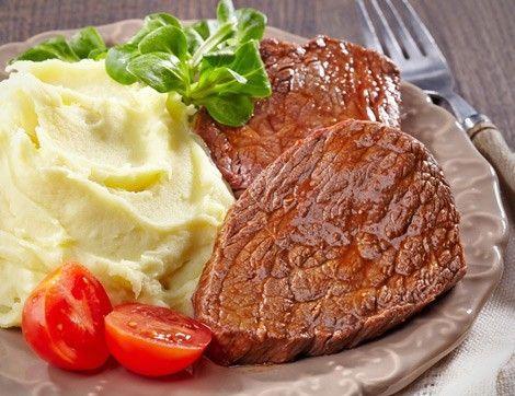 Patates Püresi Eşliğinde Salçalı Biftek