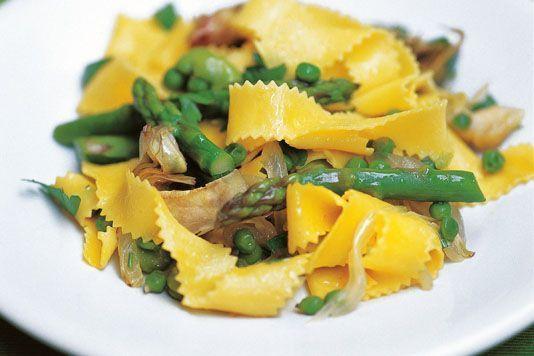 asparagus, broad bean & artichoke parpadelle @ lovefood.com