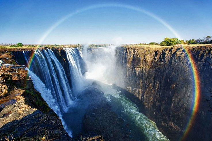 Another interesting fact about the rainforest at Victoria Falls in Zimbabwe is that evidence shows that the rainforest has been migrating over time. The forest vegetation has moved upstream with the waterfall, carving its tracks through the basaltic rock that is found here.